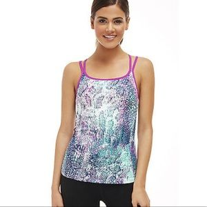 Fabletics Tahoe Animal Impressions Orchid Tank